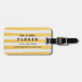 Étiquette À Bagage Courses de brosse et étiquette élégantes de bagage