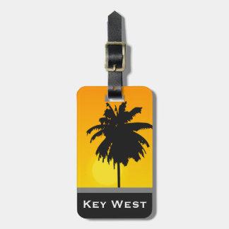 Étiquette À Bagage Coutume d'or de Key West de coucher du soleil de
