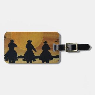 Étiquette À Bagage cowboys et chevaux