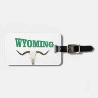 Étiquette À Bagage Crâne du Wyoming