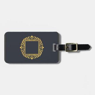 Étiquette À Bagage Créez pour posséder l'or gris élégant de