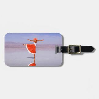 Étiquette À Bagage Danse de ballerine sur la plage
