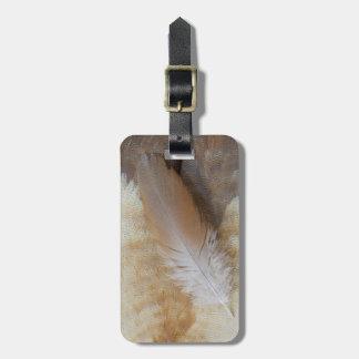 Étiquette À Bagage De Brown d'oie de plume toujours la vie