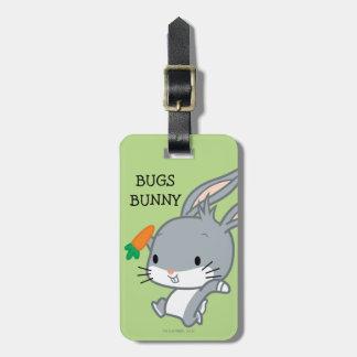 Étiquette À Bagage ™ de Chibi BUGS BUNNY avec la carotte