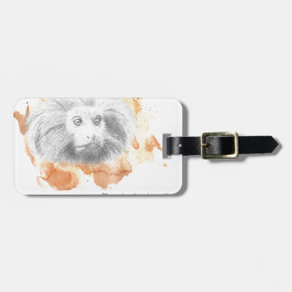 Étiquette À Bagage Démon d'or de singe - ses matériaux foncés