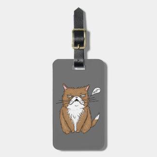 Étiquette À Bagage Dessin grincheux drôle de chat de Meh