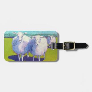 Étiquette À Bagage Deux moutons dans le domaine