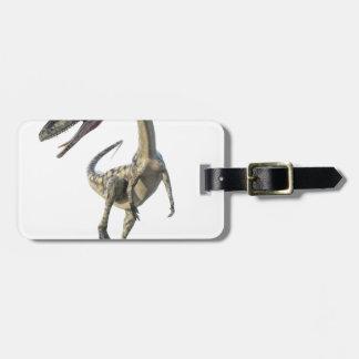 Étiquette À Bagage Dinosaure Runiing de Coelophysis à l'avant