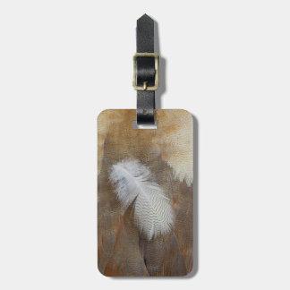 Étiquette À Bagage D'oie de plume toujours la vie