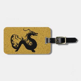 Étiquette À Bagage Dragon asiatique