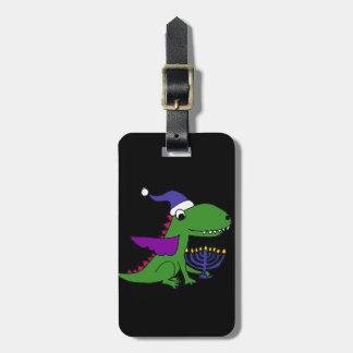 Étiquette À Bagage Dragon frais drôle et art heureux de Menorah