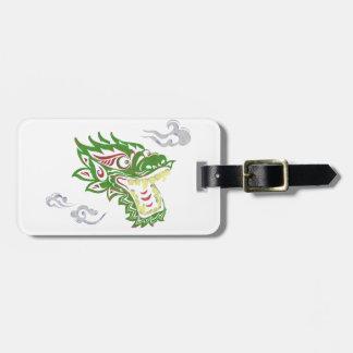 Étiquette À Bagage Dragon Japonias