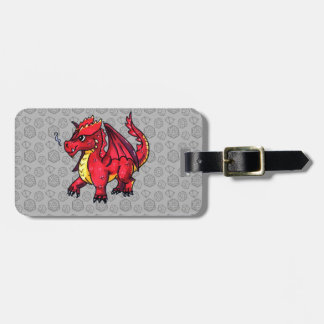 Étiquette À Bagage Dragon rouge