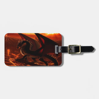 Étiquette À Bagage Dragon rouge magnifique