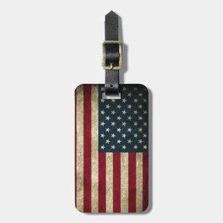 Étiquette À Bagage Drapeau américain des Etats-Unis de grunge