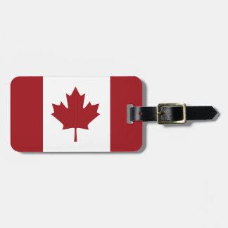 Étiquette À Bagage Drapeau canadien