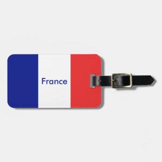 Étiquette À Bagage Drapeau de Français Tricolore de la France