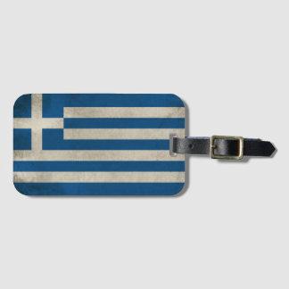 Étiquette À Bagage Drapeau de grunge de la Grèce