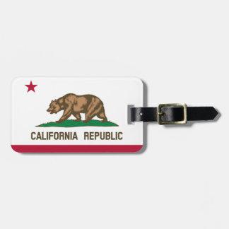 Étiquette À Bagage Drapeau de la Californie pour la