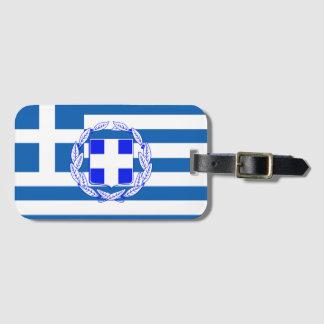 Étiquette À Bagage Drapeau de la Grèce