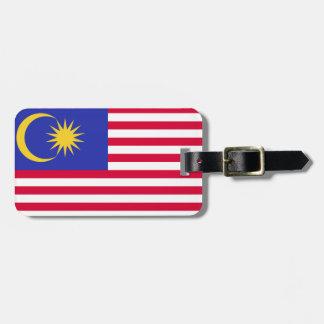 Étiquette À Bagage Drapeau de la Malaisie