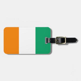 Étiquette À Bagage Drapeau de l'identification facile de d'Ivoire de