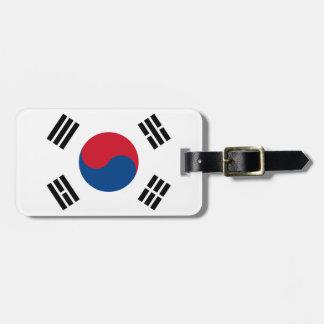Étiquette À Bagage Drapeau de l'identification facile de la Corée du