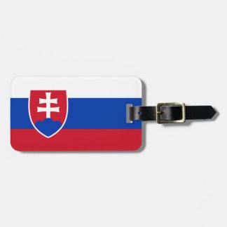 Étiquette À Bagage Drapeau de l'identification facile de la Slovaquie