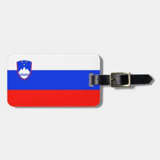 Étiquette À Bagage Drapeau de l'identification facile de la Slovénie