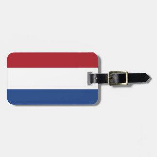 Étiquette À Bagage Drapeau de l'identification facile néerlandaise