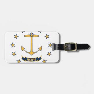 Étiquette À Bagage Drapeau d'Île de Rhode