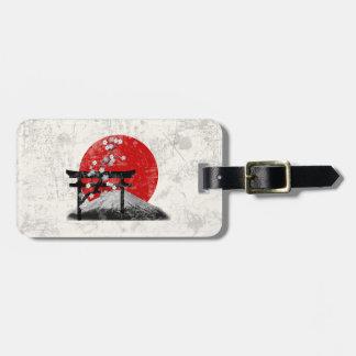 Étiquette À Bagage Drapeau et symboles du Japon ID153