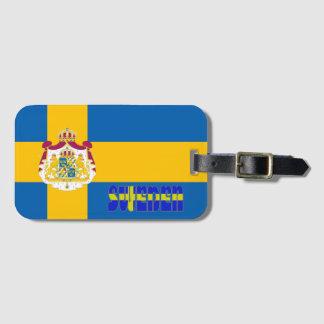 Étiquette À Bagage Drapeau suédois