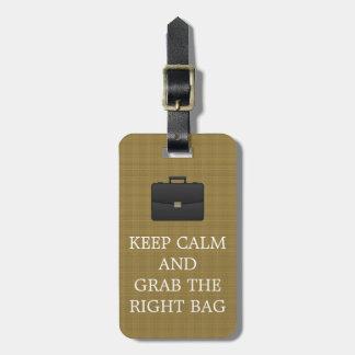 Étiquette À Bagage Drôle gardez le calme et saisissez les hommes de