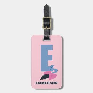 Étiquette À Bagage E est pour Eeyore | ajoutent votre nom