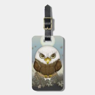 Étiquette À Bagage Eagle chauve mignon
