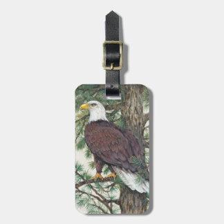 Étiquette À Bagage Eagle chauve sur la branche