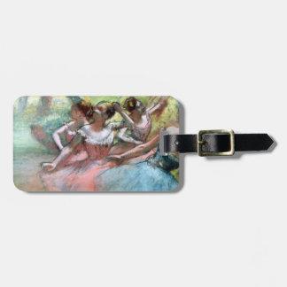 Étiquette À Bagage Edgar Degas | quatre ballerines sur l'étape