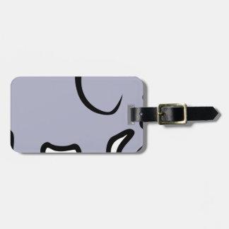 Étiquette À Bagage Éléphant de bande dessinée