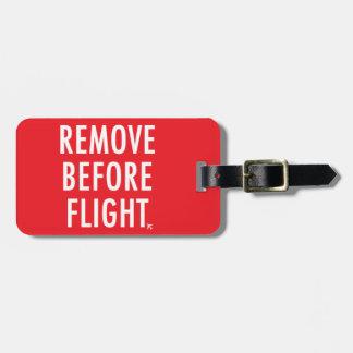 Étiquette À Bagage Enlevez avant vol, drapeau non-opérationnel plat