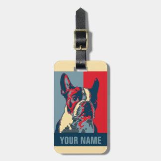 Étiquette À Bagage Espoir de Boston Terrier inspiré