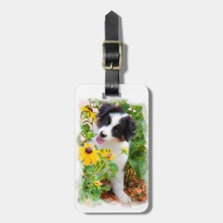 Étiquette À Bagage Étiquette australienne de bagage de chiot de chien