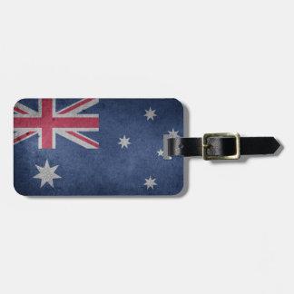 Étiquette À Bagage Étiquette australienne de bagage de drapeau