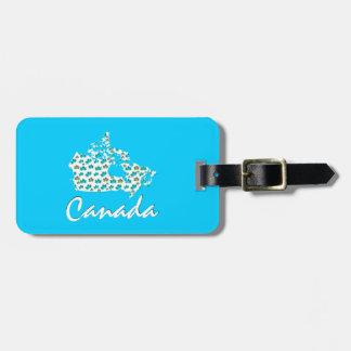Étiquette À Bagage Étiquette canadienne de bagage du Canada d'érable