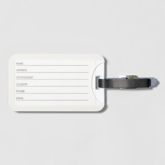 Étiquette À Bagage Étiquette de bagage avec la fente de carte de