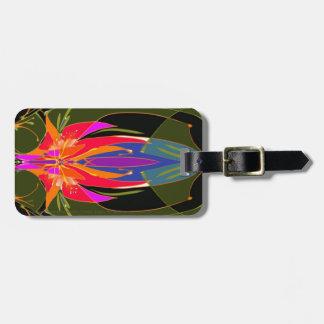 Étiquette À Bagage Étiquette de bagage d'adoration avec le bracelet