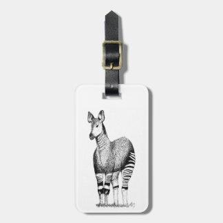 Étiquette À Bagage Étiquette de bagage d'art d'okapi