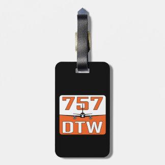 Étiquette À Bagage Étiquette de bagage de 757 DTW