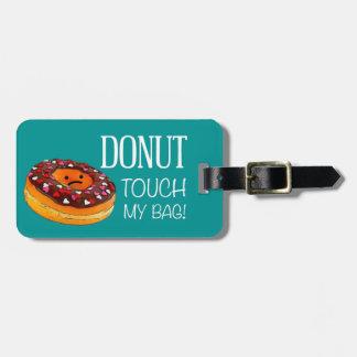 Étiquette À Bagage Étiquette de bagage de beignet