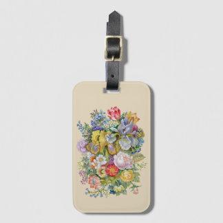 Étiquette À Bagage Étiquette de bagage de bouquet de fleur